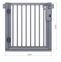 "Outdoor Elevator 42"" Picket Style Gate"
